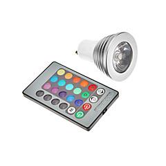3w gu10 e26 / e27 led spotlight 300 rgb k ac 85-265 v 1pc høj kvalitet