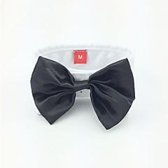 olcso Kutyaruhák és kiegészítők-Kutya Kötél/Csokornyakkendő Kutyaruházat Esküvő Fekete Háziállatok számára