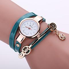 voordelige Dameshorloges-Dames Modieus horloge Armbandhorloge Vrijetijdshorloge Kwarts Vrijetijdshorloge imitatie Diamond PU Band Bohémien Zwart Wit Blauw Rood