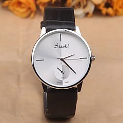 preiswerte Damenuhren-Damen Armbanduhr Quartz 30 m Wasserdicht PU Band Analog Charme Modisch Schwarz / Weiß / Rot - Rot Schwarz / Weiß Braun / Weiß