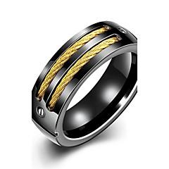 preiswerte Ringe-Herrn Bandring Statement-Ring Ring - versilbert Personalisiert, Quaste, Böhmische 7 / 8 / 9 / 10 Schwarz Für Hochzeit Party Alltag