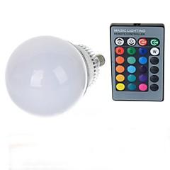povoljno LED žarulje-10W lm E14 LED okrugle žarulje A70 1 LED diode Visokonaponski LED Na daljinsko upravljanje RGB AC 85-265V