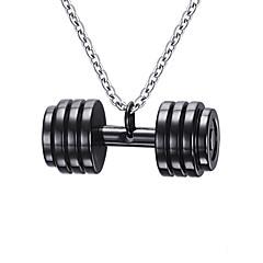 Недорогие Ожерелья-Муж. Нержавеющая сталь Ожерелья с подвесками Кулоны - Нержавеющая сталь Мода Гиря Ожерелье Назначение Повседневные