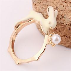 お買い得  指輪-女性用 バンドリング - 真珠, 人造真珠, 合金 ファッション 8 ゴールデン 用途 パーティー 日常 カジュアル
