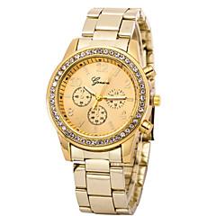 preiswerte Damenuhren-Damen Armbanduhr Quartz Silber / Gold Armbanduhren für den Alltag Imitation Diamant Analog damas Charme Modisch - Silber Golden Rotgold