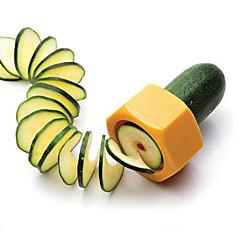 창조적 인 연필 깎이 나선 슬라이서 오이 음식 과일과 슬라이서 쉽게 야채 껍질 벗기는 사람의 컷 플레인