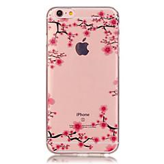 Недорогие Кейсы для iPhone-Кейс для Назначение Apple iPhone X / iPhone 8 / iPhone 6 Plus Прозрачный / С узором Кейс на заднюю панель Цветы Мягкий ТПУ для iPhone X / iPhone 8 Pluss / iPhone 8