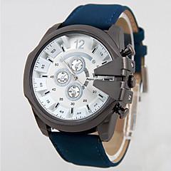 Χαμηλού Κόστους Ανδρικά ρολόγια-V6 Ανδρικά Ρολόι Καρπού Χαλαζίας Ανθεκτικό στο Νερό Δέρμα Μπάντα Φυλαχτό Μαύρο Μπλε Καφέ Πράσινο