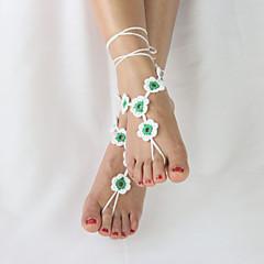Kadın Ayak bileziği/Bilezikler Kumaş Eşsiz Tasarım Moda Ayarlanabilir Çok güzel minimalist tarzı Mücevher Sarı Kırmzı Yeşil Bayanlar