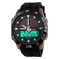 SKMEI Men's Sport Watch Digital Watch Quartz Digital Japanese Quartz Alarm Calendar Solar Water Resistant / Water Proof Dual Time Zones