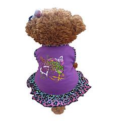 お買い得  犬用ウェア&アクセサリー-犬 ドレス 犬用ウェア ハート 動物 パープル コットン コスチューム ペット用
