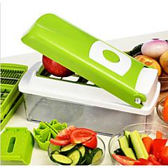 abordables Utensilios para frutas y verduras-1pc Herramientas de cocina Acero inoxidable Cocina creativa Gadget Cutter & Slicer para vegetal