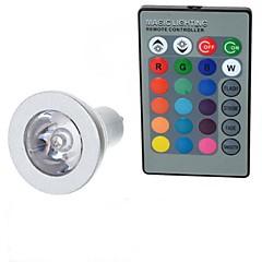 GU10 Ampoules Globe LED A50 1 diodes électroluminescentes LED Haute Puissance Commandée à Distance RVB 100-200lm 2000-3500K AC 85-265V