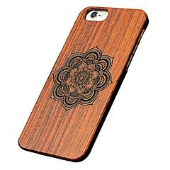 Для Кейс для iPhone 5 Чехлы панели С узором Рельефный Задняя крышка Кейс для Мандала Твердый Дерево дляiPhone 6s Plus iPhone 6 Plus