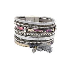 Χαμηλού Κόστους Γυναικεία Κοσμήματα-Γυναικεία Βραχιόλια με Φυλαχτά Wrap Βραχιόλια Δερμάτινα βραχιόλια Μοντέρνα Πεπαλαιωμένο Βοημία Style Πανκ Στυλ κοσμήματα πολυτελείας