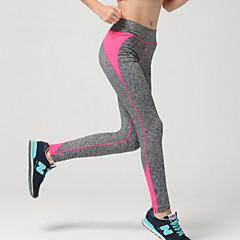 여성용 러닝 타이츠 헬스 레깅스 통기성 소프트 압축 부드러움 하단 용 운동&피트니스 달리기 블랙 오렌지 옐로우 로즈 레드 스카이 블루 M L XL XXL XXXL