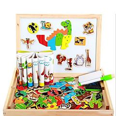 Juguetes Magnéticos Piezas MM Juguetes Magnéticos Puzzle Madera Animales 3D Juguetes ejecutivos rompecabezas del cubo Para regalo