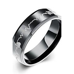 preiswerte Ringe-Herrn Bandring Statement-Ring Ring - versilbert Herz, Liebe Quaste, Böhmische, Punk 7 / 8 / 9 / 10 Weiß / Schwarz Für Hochzeit Party Alltag