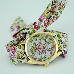 preiswerte Damenuhren-Damen Modeuhr Armband-Uhr Quartz Stoff Band Analog Blume Böhmische Schwarz / Blau / Grün - Purpur Grün Blau Ein Jahr Batterielebensdauer / Tianqiu 377