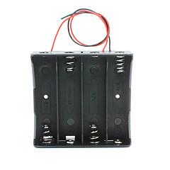 お買い得  アクセサリー-リード付き14.8V 4 * 18650電池ホルダーケースボックス - 黒