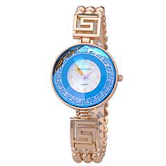 お買い得  大特価腕時計-女性用 ブレスレットウォッチ クォーツ 30 m カジュアルウォッチ 合金 バンド ハンズ ファッション エレガント シルバー / ゴールド - ブラック パープル ブルー