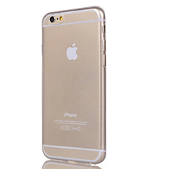 abordables Por Menos de $1.99-Funda Para Apple iPhone 6 iPhone 6 Plus iPhone 7 Plus iPhone 7 Transparente Funda Trasera Color sólido Suave TPU para iPhone 7 Plus
