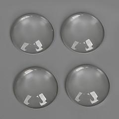Amuletit lasi / Plastic Round Shape läpinäkyvä 20Pcs