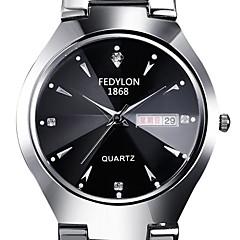 preiswerte Tolle Angebote auf Uhren-Damen Modeuhr / Kleideruhr / Simulierter Diamant Uhr Kalender / Imitation Diamant Edelstahl Band Silber