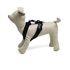 お買い得  犬用首輪/リード/ハーネス-ネコ 犬 ハーネス 調整可能 / 引き込み式 ソリッド ナイロン ブラック