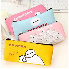 152 South Korean Super Cute White Corps Stationery Bags Large Capacity Pencil Case Cute Simple Leather