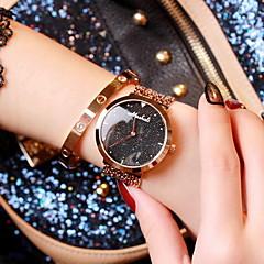 preiswerte Damenuhren-Damen Modeuhr Japanischer Quartz Armbanduhren für den Alltag Edelstahl Band Analog Glanz Rotgold - Schwarz Blau Rosa