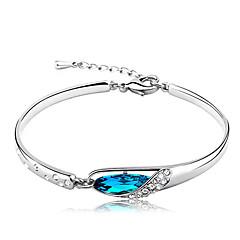 abordables Bijoux pour Femme-Femme Bleu Cristal - Chaîne Bracelet Bleu Pour Cadeau Quotidien