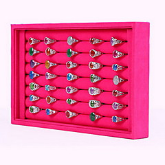 cheap Beads & Jewelry Making-Women's Jewelry Boxes Jewelry Displays Square Rose Black and White Nylon Fashion Daily