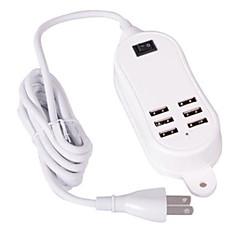 US Stik Telefon USB oplader Multiporte cm Outlets 6 USB-porte 2.1A 2A 1A 0.5A AC 100V-240V