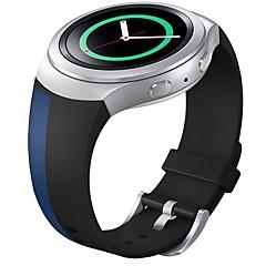 мягкий силиконовый замена спорт лента для Samsung шестерня S2 смарт-часы (черный синий)