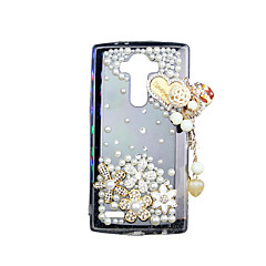 Case For LG LG G4 LG Case Back Cover Rhinestone Transparent Back Cover 3D Cartoon Soft TPU for LG G4