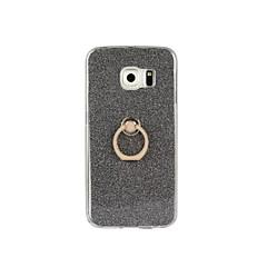 olcso Galaxy S6 Edge tokok-Mert Samsung Galaxy S7 Edge Tartó gyűrű Case Hátlap Case Csillámpor Puha TPU Samsung S7 edge / S7 / S6 edge plus / S6 edge / S6 / S5