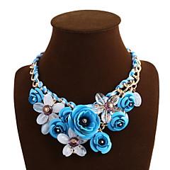 お買い得  ネックレス-女性用 ステートメントネックレス  -  ファッション グリーン, ブルー, ピンク ネックレス 用途 日常, カジュアル