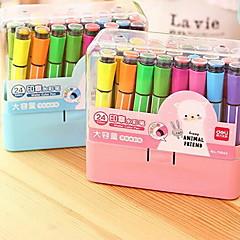 preiswerte Zubehör zum Zeichnen und Schreiben-Kugelschreiber Stift Wasserfarbstife Stift,Kunststoff Fass Zufällige Farben Tintenfarben For Schulzubehör Bürobedarf Packung