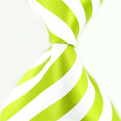 Moderno Branco / Verde Tecido Masculino Tie Bar-1pç