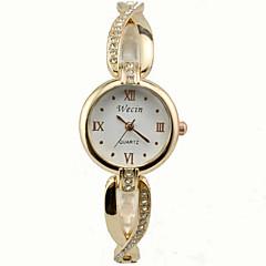 お買い得  レディース腕時計-女性用 ファッションウォッチ クォーツ 合金 バンド ハンズ シルバー / ゴールド - グリーン ゴールデン