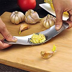 1 Bucătărie Gadget creativ / Easy Cut / Multifuncțional / Grip convenabil Teak Ustensile de Usturoi