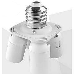 E27 to 4 E27 LED Bulb Base Socket Adapter High Quality Lighting Accessory