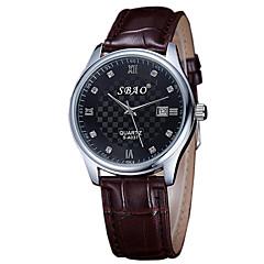 preiswerte Armbanduhren für Paare-Paar Armbanduhr Armbanduhren für den Alltag PU Band Charme / Modisch Braun
