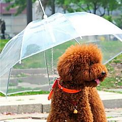 Σκύλος Ομπρέλα Κατοικίδια Αντικείμενα μεταφοράς Αδιάβροχη Φορητό Μονόχρωμο Διαφανές