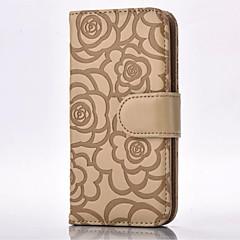 Недорогие Чехлы и кейсы для Galaxy Note 5-Для Samsung Galaxy Note Бумажник для карт / Кошелек / со стендом / Флип / Рельефный Кейс для Чехол Кейс для Цветы МягкийИскусственная