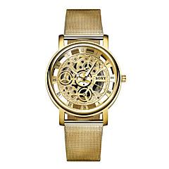 お買い得  メンズ腕時計-男性用 ファッションウォッチ クォーツ カジュアルウォッチ 合金 バンド ハンズ チャーム ゴールド - ゴールデン