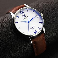 preiswerte Tolle Angebote auf Uhren-YAZOLE Herrn Armbanduhr Quartz Schwarz / Braun Analog Schwarz Braun