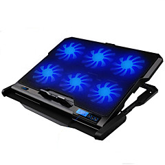 cheap Laptop Cooling Fans-LED Screen 6 Fans Adjustable Cooler Cooling Pad laptop cooling stand