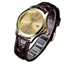 preiswerte Armbanduhren für Paare-Paar Modeuhr Armbanduhren für den Alltag PU Band Charme Braun / Ein Jahr / SSUO LR626